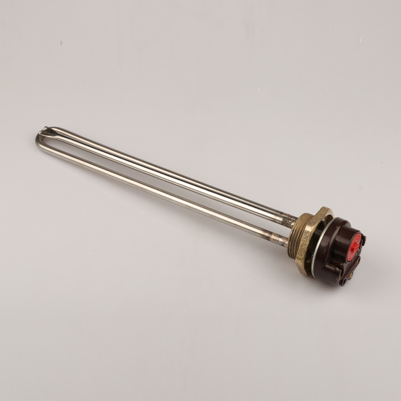 DN32 1-1/4 copper thread immersion water heater element with long Ariston thermostat,42mm flange electric heat tube метчики 1 4 32