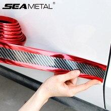 hot deal buy car stickers 3d carbon fiber rubber protector door sill sticker auto styling cars bumper strip protectors exterior accessories
