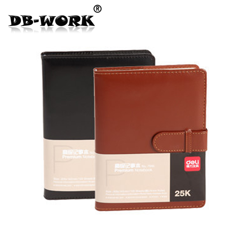 Deli 7946 Деловой кожаный блокнот A5size 120 листов для тетрадей с вкладными листами Бесплатная доставка