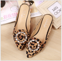 33 43 Big Yards For Women S Shoes Summer 2017 Diamond Cool Slippers Female Flat Baotou