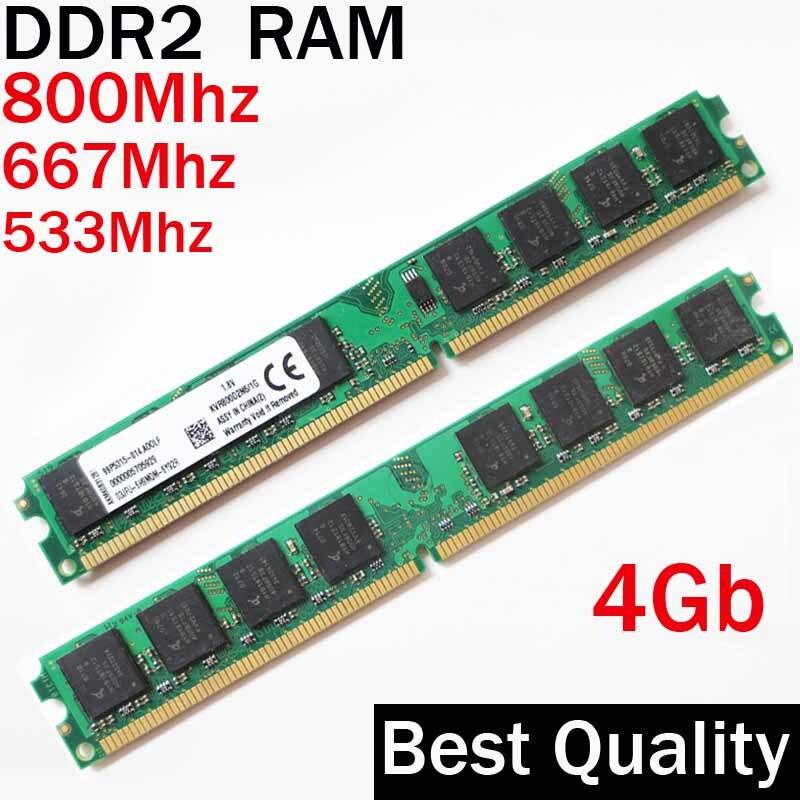 2Rx8 8 Gb RAM ddr2 DIMM de desktop 4 Gb 800 Mhz 667 Mhz 533 Mhz/\ para Intel ou para a AMD único 4G RAM DDR2 667 533/ddr 2 de memória RAM