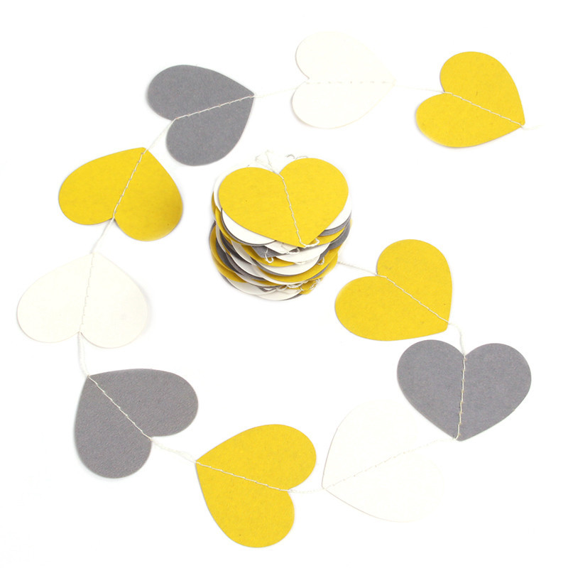 Colorful Heart Paper Wedding Party Decoration Garland Handmade ...