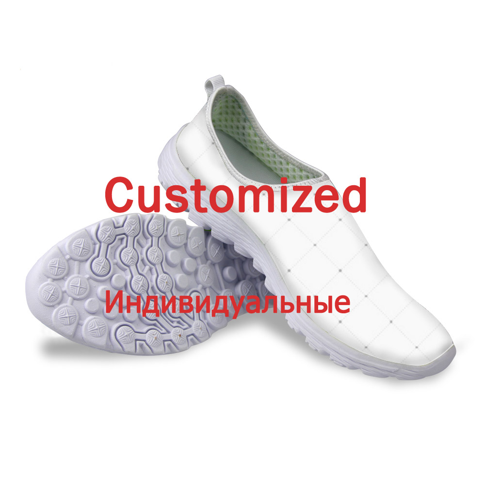 ELVISWORDS Funny Customize Pattern Printing Summer Mesh Shoes Vulcanize Flats Sneakers for Men Women Dropshipping Wholesale slimming summer letters printing tank top for men