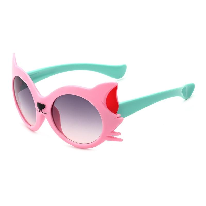 Girls Boy 5 Colors Cartoon Cat Anti UV400 Eyeglasses Toddler Baby Sunglasses  IS