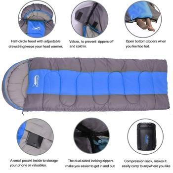 Desert&Fox Camping Sleeping Bag, Lightweight 4 Season Warm & Cold Envelope Backpacking Sleeping Bag for Outdoor Traveling Hiking 4