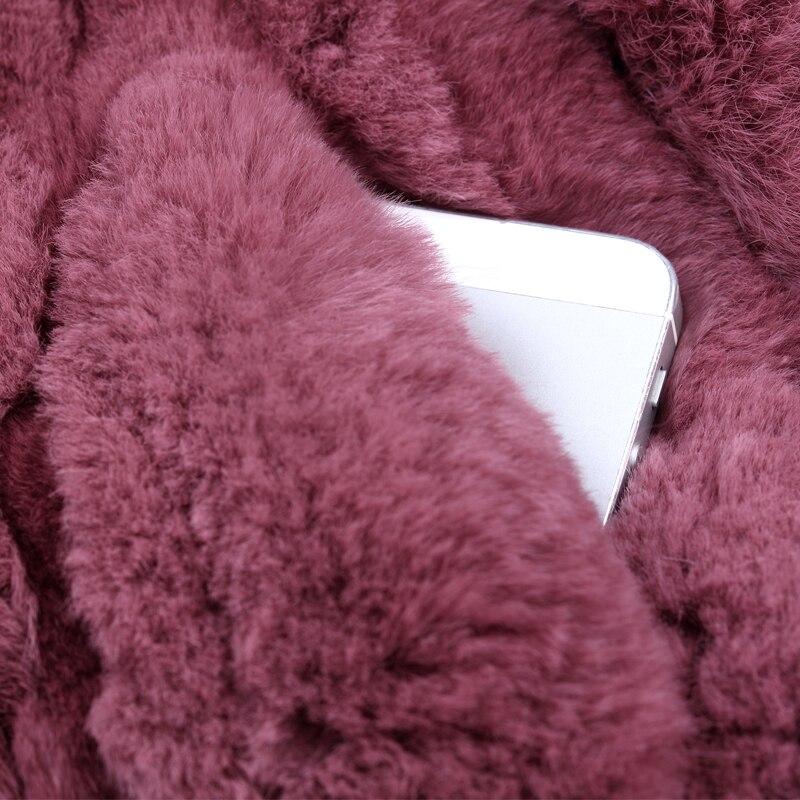 Long Livraison Lapin marron Manteau Survêtement noir Femmes Naturel Rex Taille La Automne Gratuite orange Et Fourrure bleu Neck blanc O 6xl De or lavande Plus Manteaux ivoire Beige Green jaune army D'hiver 2018 ardoisé 6f7qZH78