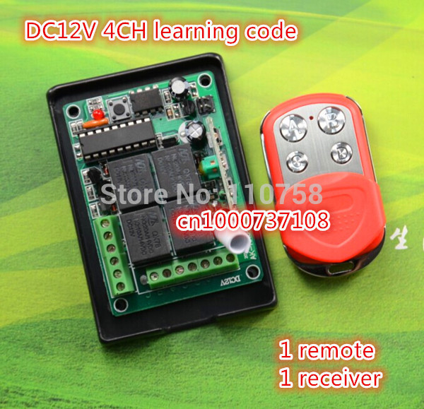HOT selling ! DC 12V 4 CH 4CH RF TX RX ,315/433 MHZ Transmitter And Receiver CHINA manufacturer