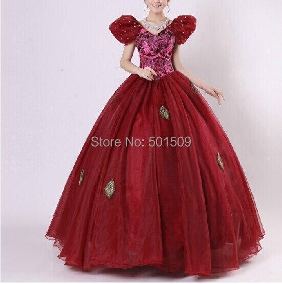 Женское красное вино со стразами средневековое платье костюм эпохи Возрождения викторианская готика Ло/Marie Antoinette/civil war/Colonial Belle Ball