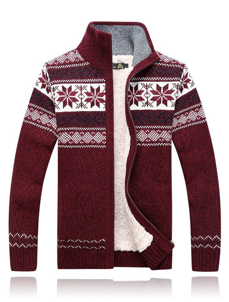 Men Sweater Fashion Autumn Winter Wool Cardigan Men\'s Casual Thick Warm Sweater Male 2016 AFS JEEP Knitting Sweter Hombre M-3XL  (4)