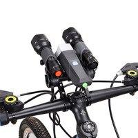 Outdoor Sport Mountain Bike Flashlight Holder Handle Bar Bicycle Accessories Extender Mount Bracket
