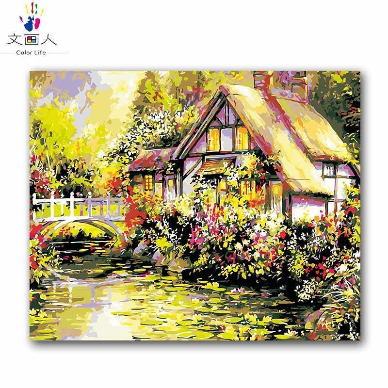 Пейзажи строительство завода Томас Холст Картина маслом по номерам рисунок раскраска Настенная картина номер для гостиной hoom Декор