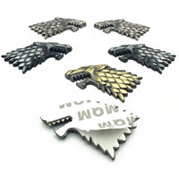 sticker motorcycle 2pcs Wolf Wolverene Head 3D Metal Car Auto Motorcycle Logo Emblem Badge Sticker DIY NEW Gun Silver Bronze Car-Styling (3)