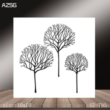 AZSG Three Small Trees Clear Stamps/Stamp/For Scrapooking/Card Making/Silicone Stamps/Decoration  Crafts