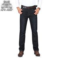 Autumn New Arrival 2017 Jeans Pants AFS JEEP Elastic Mens Straight Men Mid Risef Slim Fit