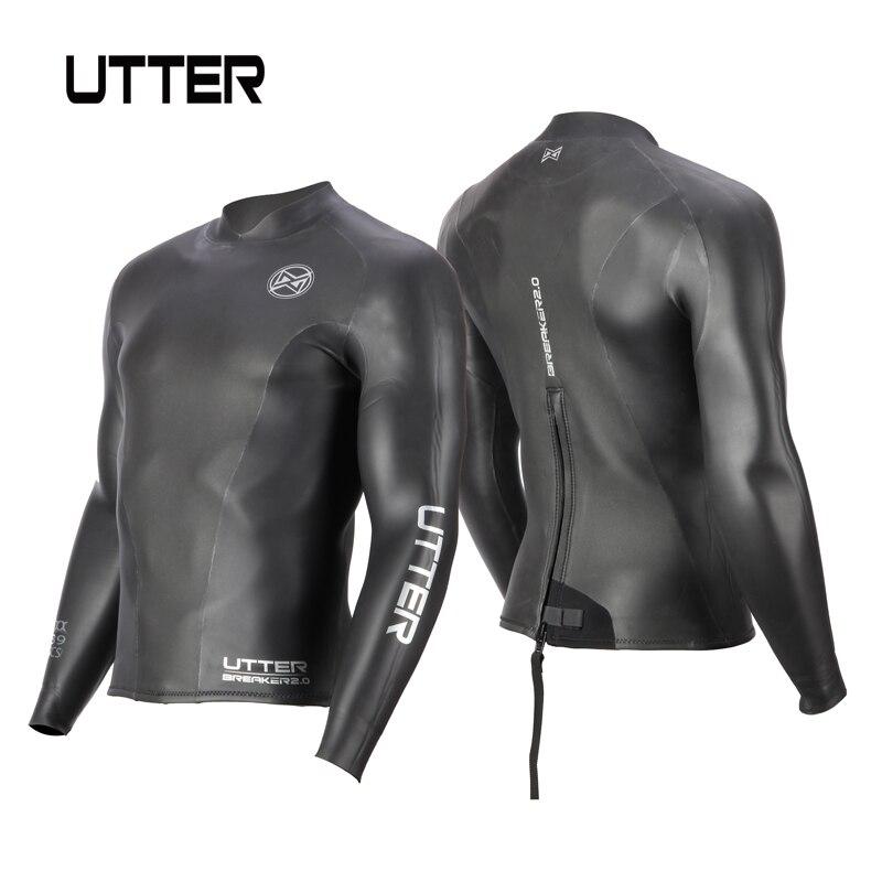 Полная 2 мм Yamamoto неопрена Smoothskin Триатлон куртка гидрокостюм Топ черный молния сзади солнцезащитный серфинг сохраняет тепло плаванье