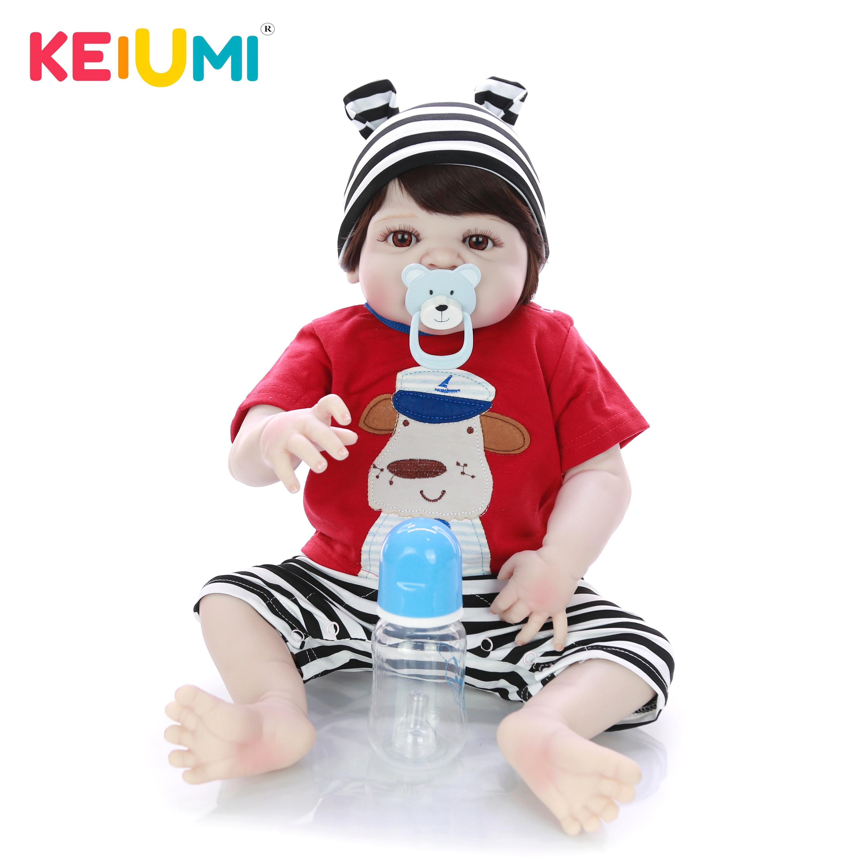 Offre spéciale poupées Reborn bébé jouet 23 ''57 cm Silicone corps vinyle réaliste bébé poupée garçon jouet à Sao Paulo enfants cadeau d'anniversaire-in Poupées from Jeux et loisirs    1
