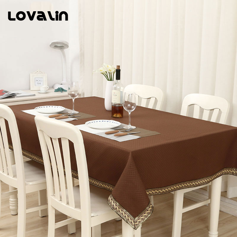 Lovalin Solid Table Cloth Europe Simple Table Cover Kitchen Dinner Tabel Decor Toalha De Mesa For Party Wedding(Without Macrame)