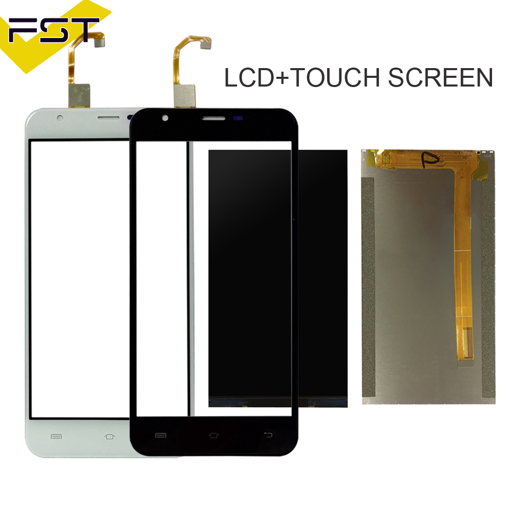 Black/White For Oukitel U7 Plus LCD Display+Touch Screen Digitizer For U7 Plus LCD Glass Panel Sensor Lens+Free Tools