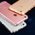 NEW! CZ Diamond Crystal Рамка Прозрачный Очистить Память Телефона Задняя Крышка Мягкой ТПУ Телефон Случае Для iPhone 7 For iPhone7 7 Плюс