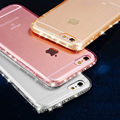 NEW! CZ Diamond Crystal Frame Transparent Clear Phone Back Cover Soft TPU Phone Case For iPhone 7 For iPhone7 7 Plus