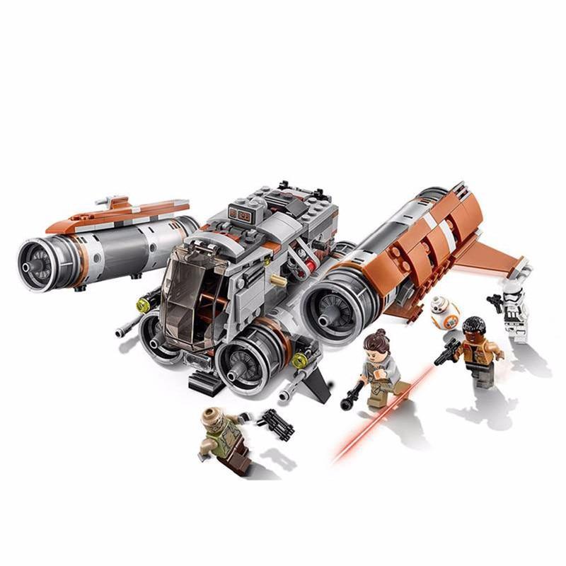 482pcs Lepin Diy Technic Star Genuine Wars Series The Jakku Quadjumper Blocks Compatible With Legoingly Brick Toys For Children 6es5 482 8ma13
