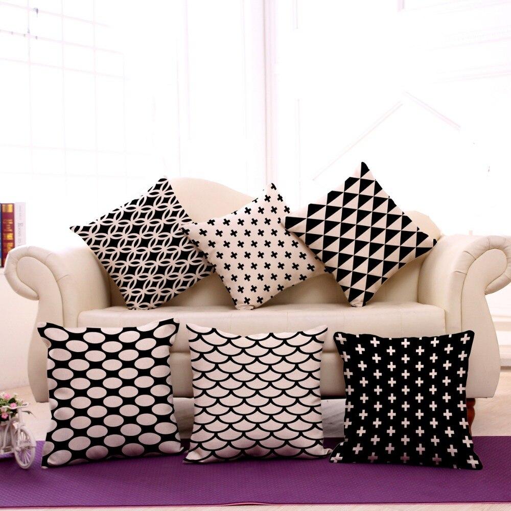 1piece square 45x45cm cotton linen decorative pillow case for White craft pillow cases