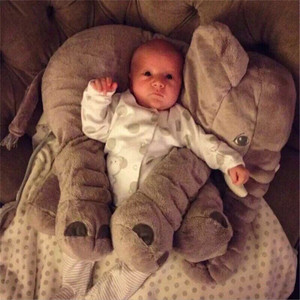 Image 5 - 40cm/60cm Large Elephant Plush Doll Toy Pillow Infant Soft For Sleeping Stuffed  Plush Toys Elephant Figure Kids Doll Toys gift