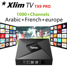 TX9 Pro TV Box Amlogic S912 Android 7.1 Set top Box arabisch iptv abonnement franse goedkope stabiele usa iptv canada iptv apk gratis(China)