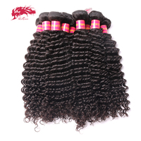 Ali Queen Hair Products Virgin Hair Brazilian Deep Wave Wholesales 10 PCS Lot Human Hair Bundles 12 32 inches Free Shipping