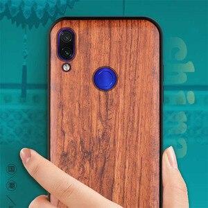 Image 3 - New For Xiaomi Redmi Note 7 Case Slim Wood Back Cover TPU Bumper Case On Xiaomi Redmi Note 7 Xiomi Redmi note7 pro Phone Cases