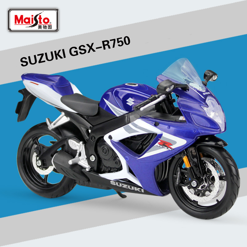 1:12 Motorcycle SUZUKI GSX-R 750 Diecast Alloy Model Motorbike Metal Model Race Toys For Kids Gift Collection
