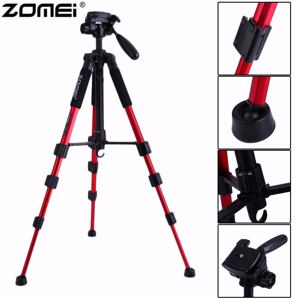 D'origine Zomei Portable Q111 Heavy Duty Aluminium Caméra Trépied Pour Appareil Photo REFLEX avec sac de Transport Drop Shipping