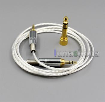 LN004786 Silver Plated headphone Cable For For Audio ATH-pro500mk2 ATH-PRO700MK2 ATH-PRO5V ATH-M50 ATH-M50RD Headphone
