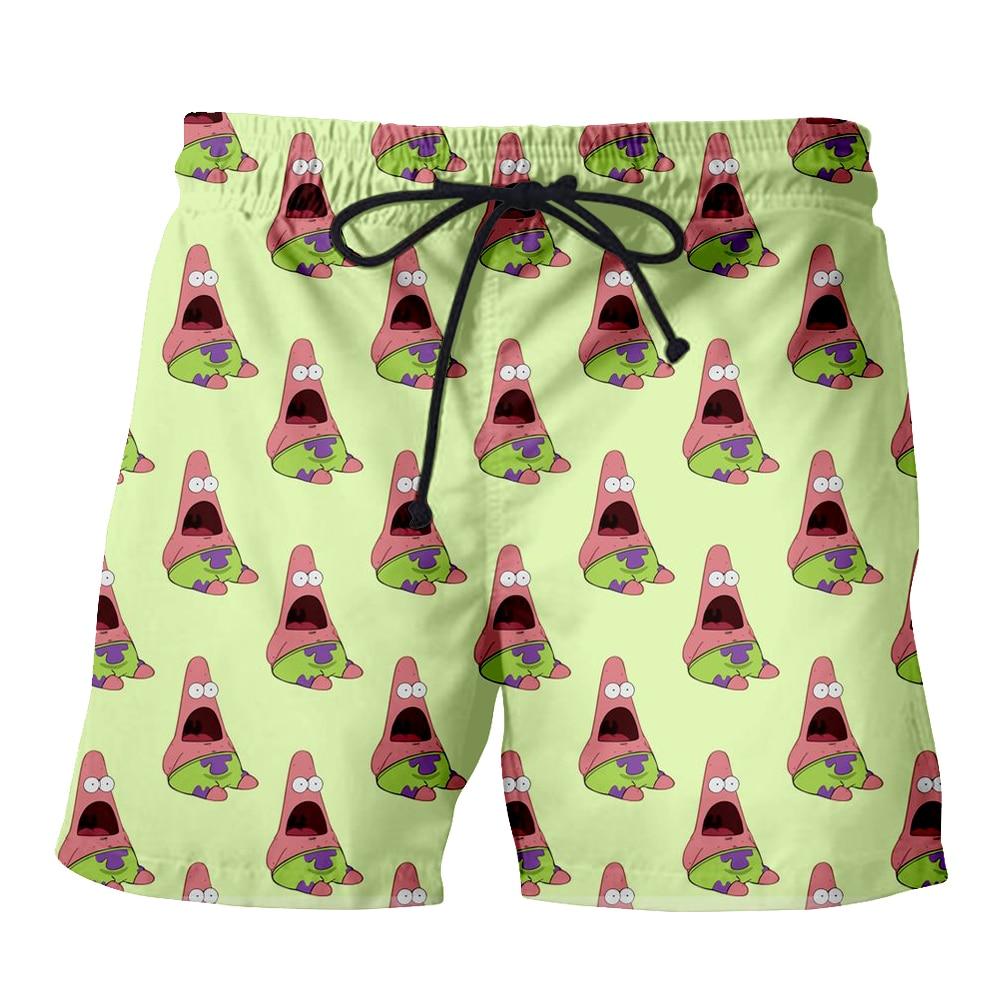 PLstar Cosmos 2018 Summer Cartoon Cute Men Casual Shorts 3d Patrick Star Trousers For Women/Men Regualr Shorts Dropshipping