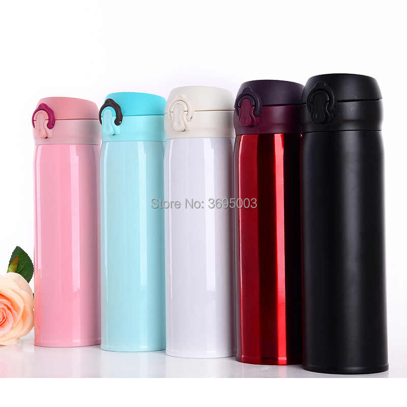 Hoge Kwaliteit Dubbele Muur Rvs Thermosflessen 500 ml Auto Thermos Cup Koffie Thee Melk Mok Thermol Fles Thermocup