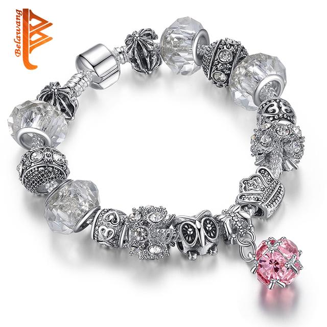 Silver Owl Bracelet