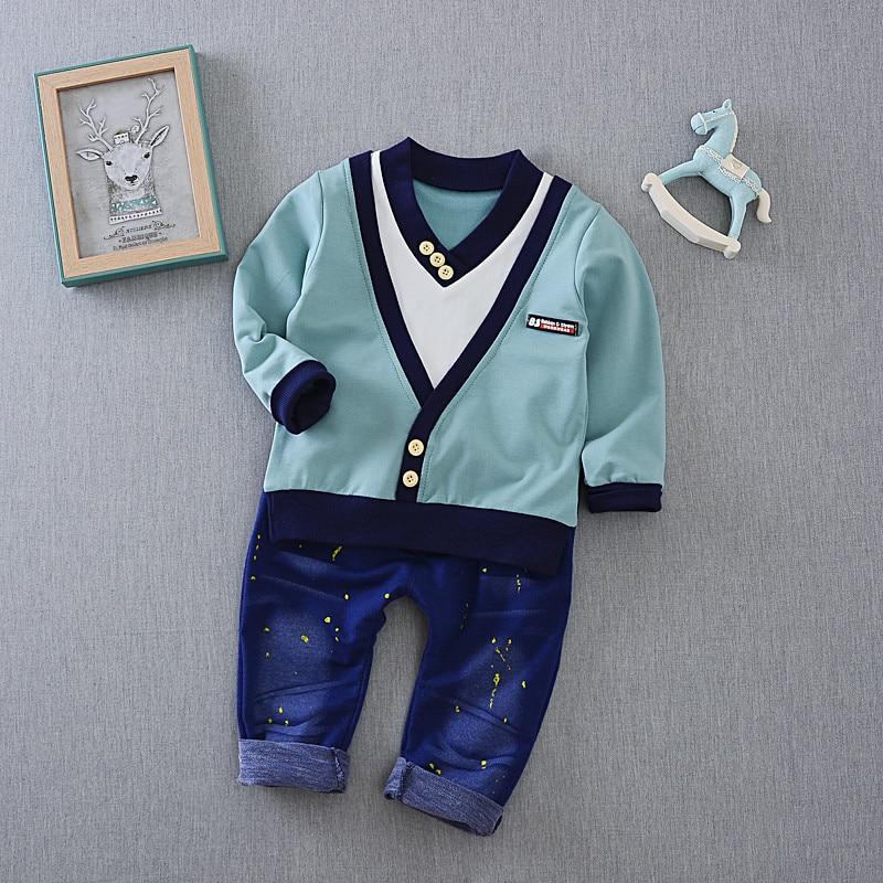 Baby boys clothes sets cotton Boys Sweater+pants 2pcs toddler kids sports suits spring&autumn children clothing sets