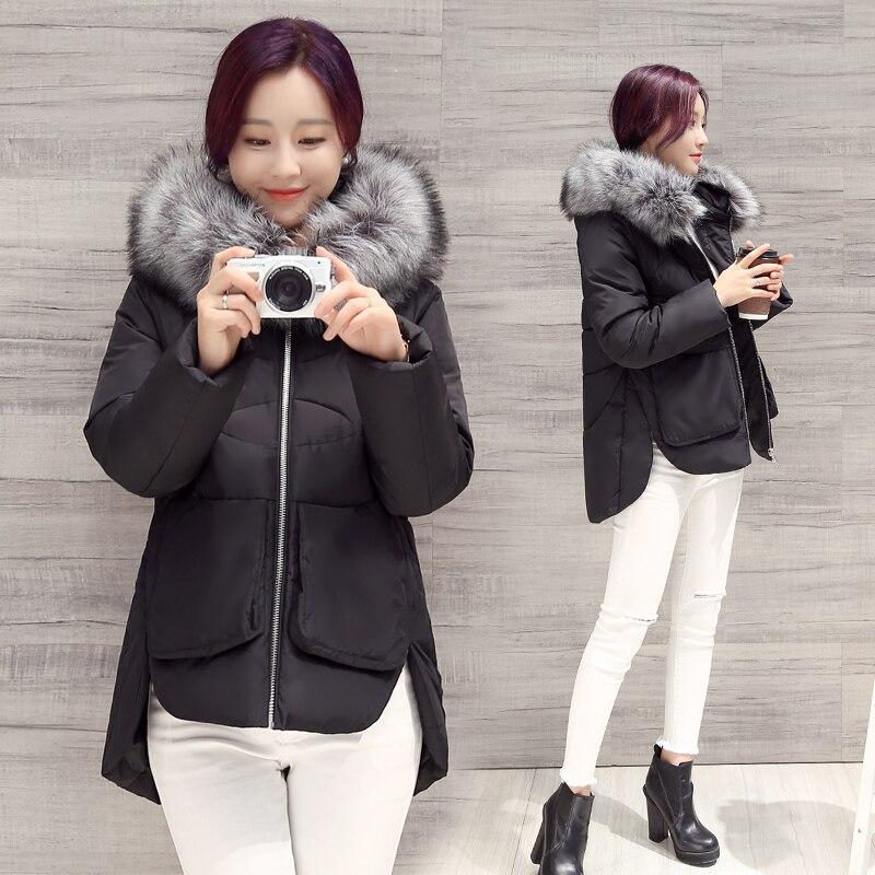 ФОТО Hot sale 2016 new arrive autumn Women's Down Cotton Jacket Female Irregular Hem winter coat women Warm hooded short Parkas Coats