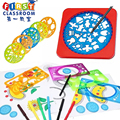 Drawing Tools DIY Drawing Board Magic Pen Ruler Sketchers Toy Spirograph Stencils For Painting Learning Educational Toys