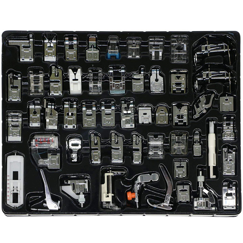 Presser Foot Feet Kit - Multi Function 52pcs Domestic Household Sewing Machine for Baby Lock Sewing Household Pintucks Set Box 15pcs multifunction sewing machine presser feet foot set brother singer janome