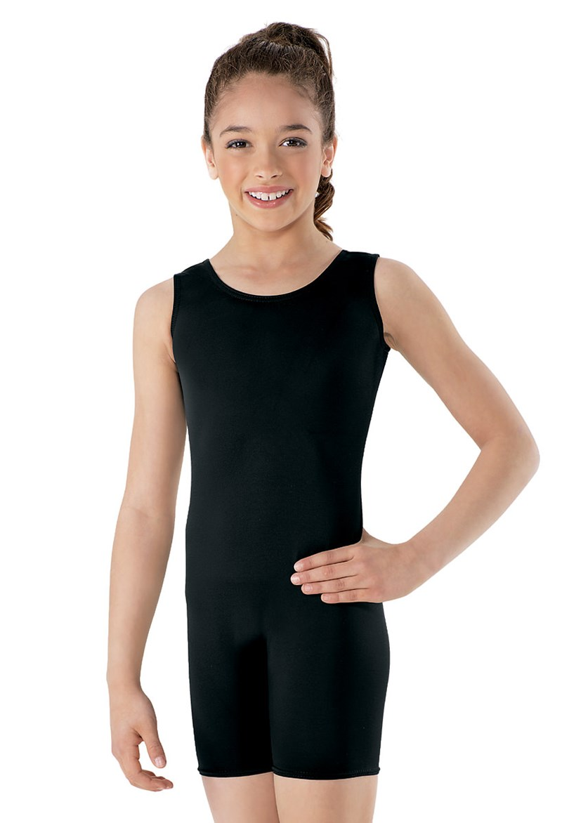 Basic Sleeveless Tank Biketard Child Gymnastics Leotard Girls Spandex Lycra Dance Unitard Kids Ballet Leotard Toddlers