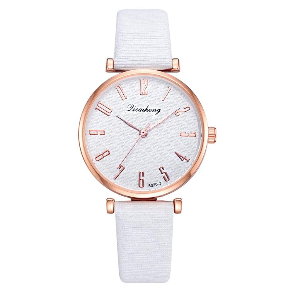 Women Watch Temperament Quartz WristWatch Montre Femme Modern Fashion Leather Strap High Quality Casual Digital Watch Clock 2019