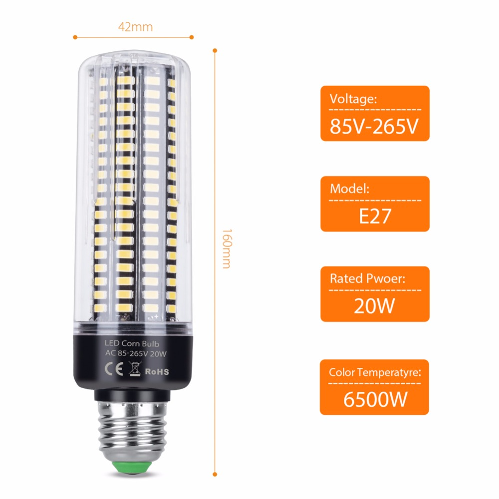 Corn Bulb E27 LED Lamp E14 Luminaria Led 220V SMD5736 110V 3.5W 5W 7W 9W 12W 15W 20W Chandelier Light Bulb led High Power 240V