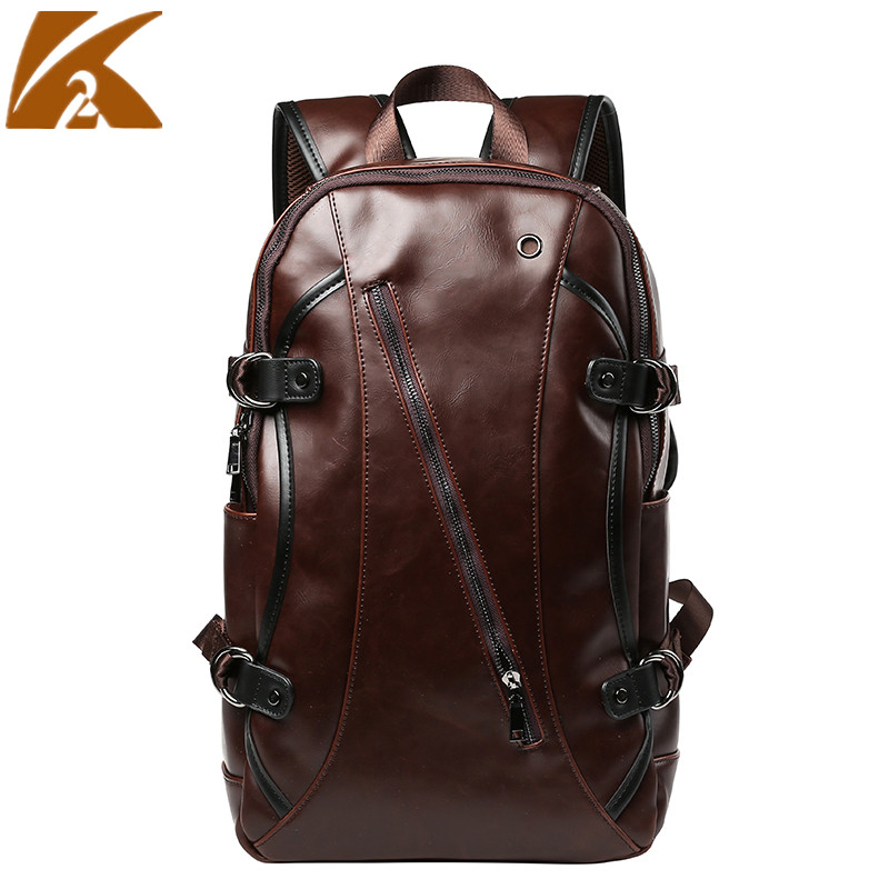 2018 Vintage Genuine Leather Men Backpack Waterproof 14 Laptop School Bags Male Business Backpacks Man Casual Travel Bagpack genuine cow leather vintage casual mens women backpack shoulder crossbody bags men travel backpacks for man school laptop bag