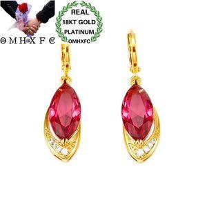 OMHXFC оптовая продажа, Европейская мода для женщин, девочек, для вечеринки, дня рождения, свадьбы, подарок, красная лошадь, глаз, AAA циркон, 18KT, з...