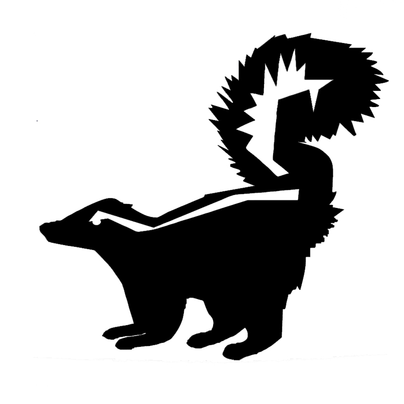 3/'/' Baby Skunk Animal Car Bumper Sticker Decal 5/'/' or 6/'/'