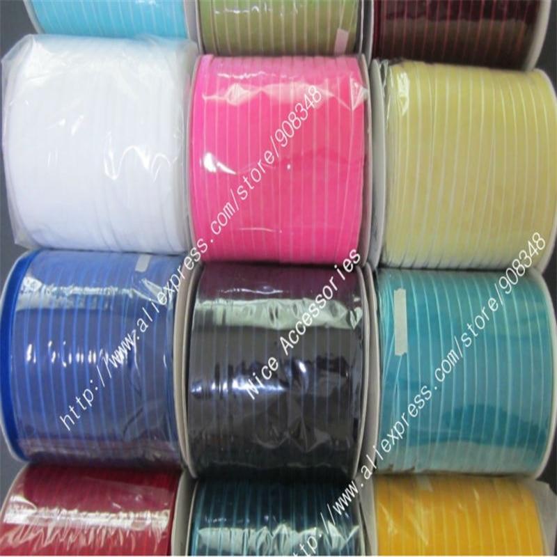3 8 9mm None Elastic nylon single faced velvet ribbon velour webbing headband Hair band accessories