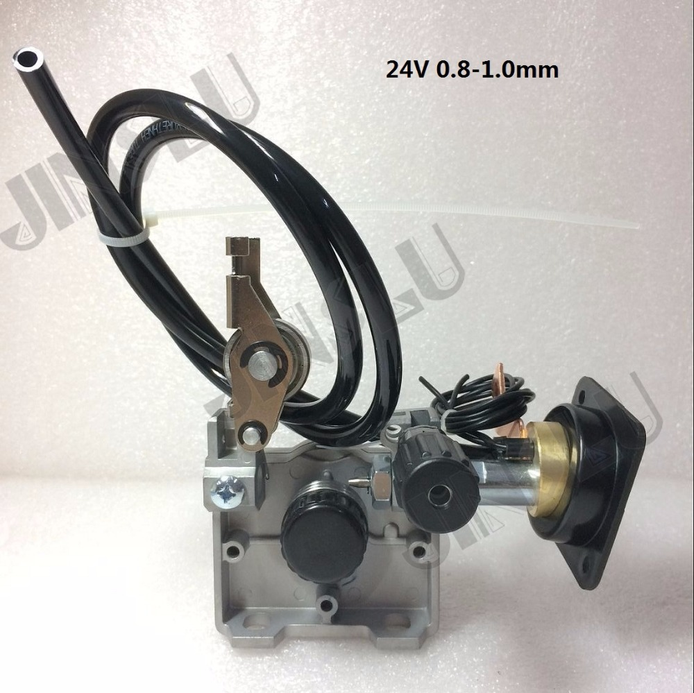 24V 0.8-1.0mm ZY775  Wire Feed Assembly Wire Feeder Motor MIG MAG Welding Machine Welder Euro Connector MIG-160 JINSLU professional 24v wire feed assembly 0 6 0 8mm 023 03 detault wire feeder mig mag welding machine european connector en60974