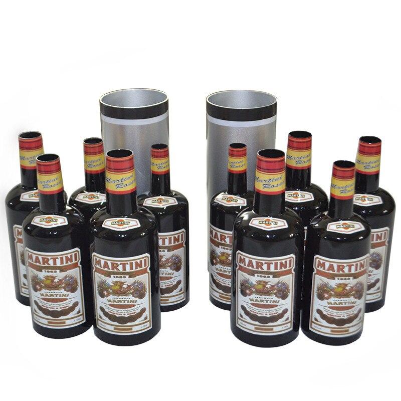 Multiplier les bouteilles/mouvement augmentant les bouteilles noires (10 bouteilles, liquide Pured) tours de magie scène Gimmick mentalisme Illusion Magia - 2