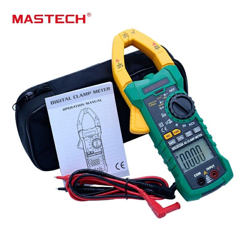 MASTECH MS2015A 1000A AutoRange Digital AC Pinça de Corrente do Medidor True RMS Freqüência Multímetro Com Não-contato Detector de Tensão